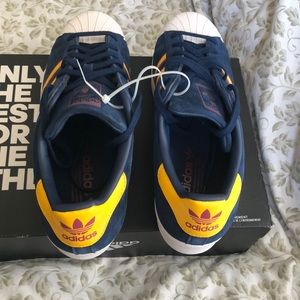 Adidas Shoes - ADIDAS SUPERSTAR  Mens Shoes Size 10 BLUE & YELLOW